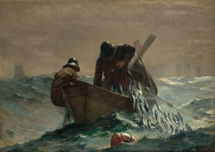 Homer, Winslow: The Herring Net. Marine/Fishing Fine Art Print/Poster. Sizes: A4/A3/A2/A1 (003031)